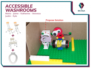 Photo of Team Accessible Washrooms' prototyping process