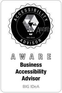Aware Level Business Accessibiltiy Advisor Badge for BIG IdeA