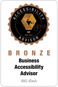 Bronze Level Business Accessibiltiy Advisor Badge for BIG IdeA