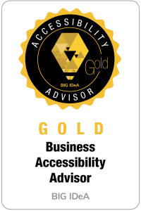 Gold Level Business Accessibiltiy Advisor Badge for BIG IdeA