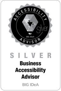 Silver Level Business Accessibiltiy Advisor Badge for BIG IdeA