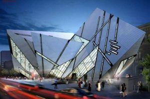 Picture of the ROM from Bloor St. The new building